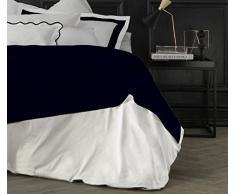 Suite 2603 by Adolfo Carrara Studio Design Drap supérieur, 100% Coton, lit, 39x 26x 4cm 39x26x4 cm Classic Blu