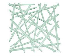 Koziol STIXX Paravent en Plastique thermoplastique, Vert Eucalyptus Transparent