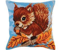 Collection D/'Art Cross Stitch Cushion Kit Cardinal Rose CD5105