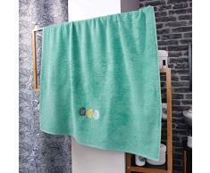 douceur dintérieur drap de bain 90 x 150 cm eponge brodee fougerys menthe