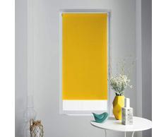 store dintérieur store enrouleur occultant 60x90 cm polyester occult jaune