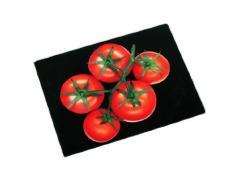Premier Housewares 1203468 Planche à Découper en Verre Noir/Tomates