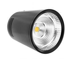 BeMatik NE012 Spot LED de surface 5 W 220 V AC 3000 K Noir 75 mm