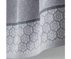 douceur dintérieur drap de douche 70x130 cm eponge adelie gris