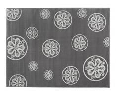 Aratextil Fleurs Tapis Enfant, Acrylique, Gris, 140Â x 200Â cm
