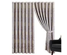 Sunrise Bedding Panneaux de Rideaux en Jacquard à œillets 220 g/m² pour Salon, décoration dintérieur (Betty Mauve, 167,6 cm de Largeur x 182,9 cm de Hauteur)
