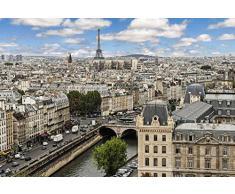 Tapisserie déco poster PRINTEMPS A PARIS 3 x 2,70 m | Déco et photo murale XXL Qualité HD Scenolia
