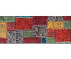 Wash+Dry Vintage Patches Tapis, Surface en Polyamide, Coloré, 75/190