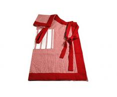 Campagne Table Linen Tablier Rouge