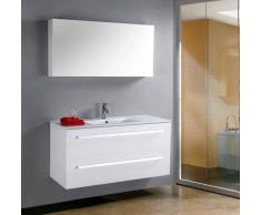items-france MEGEVE - Grand meuble simple vasque de salle de bain contemporain