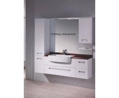 items-france ITALO - Meuble salle de bain avec nombreux rangements 155x43x51