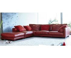 items-france REDLITE - Canape contemporain d´angle cuir 4 places 280x300x100