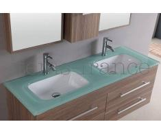 items-france VITA - Meuble salle de bain contemporain vita 138x46x46