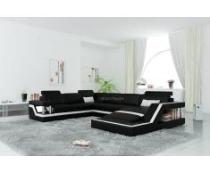 items-france RIMINI 2 - Canape cuir 5/6 places 247x334x194