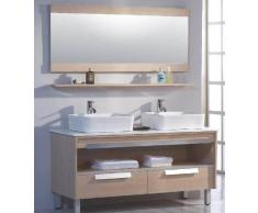 items-france MILANO - Meuble salle de bain contemporain 140x50x85