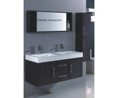 items-france JINA - Grand meuble salle de bain double vasque suspendu avec colon...