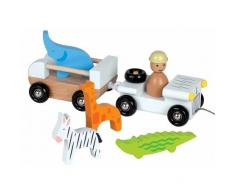 Janod Voiture Jeep Multi Zoo Janod - Jouets en bois