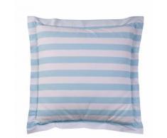 Taie d'oreiller ou de traversin coton imprimé PASTEL LINE