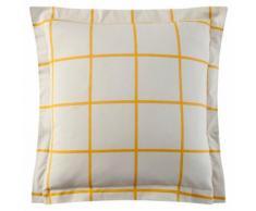 Taie oreiller ou traversin 100% coton imprimée carreaux Piastrella