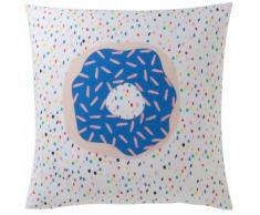 Taie d'oreiller carrée polycoton imprimé Donut