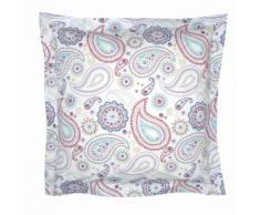 Taie d'oreiller ou de traversin percale de coton imprimé Pachmira