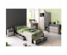 Ensemble chambre pour enfants lit + chevet + armoire Parisot Fabric