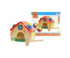Jouet en bois pour enfants : Maison en bois à marteler