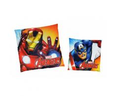 MV92345 Coussin décoratif carré : Iron Man/Captain America