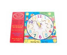 1 jouet - Ma première horloge en bois - D10047
