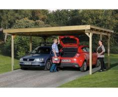 Direct abris Carport Primus Duo 500 x 500 - traite autoclave