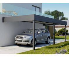 Direct abris Carport aluminium adosse TALIS 8 x 3.5 m
