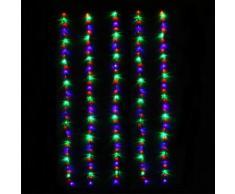 Rideau de porte lumineux H1,80 m Multicouleur 180 LED