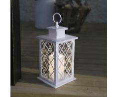 JAIPUR - Lanterne d'extérieur Métal Blanc Bougie LED télécommande H30cm - Luminaire d'extérieur Best Season designé par