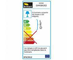 Borne d'extérieur à LED en métal anthracite H30cm