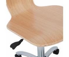 Chaise de bureau enfant finition érable