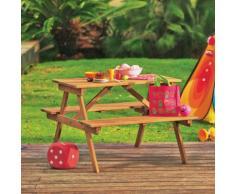 Table de pique-nique en acacia pour enfant