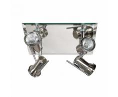 Plafonnier de salle de bains à 4 spots orientables 24x26cm