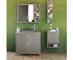 Armoire de rangement murale de salle de bains en épicéa