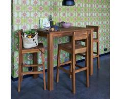 Table haute de bar rectangulaire en acacia L120cm
