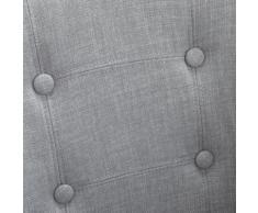 Chaise capitonnée avec accoudoirs gris clair