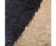 Chemin de table en sequins réversibles dorés et noirs 50x145cm