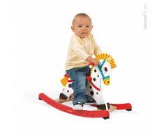 Cheval de cowboy à bascule en bois pour enfant