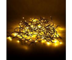 Guirlande lumineuse clignotante 160 LED blancs chauds - L3.80m