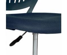 Chaise de bureau enfant bleue marine