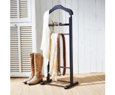 Valet / Porte-vêtement noir en bois
