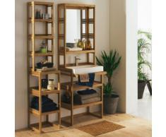 Étagère de salle de bains en bambou H100cm