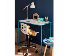 Bureau enfant blanc et bleu turquoise