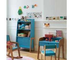 Petit bureau vintage bleu pour enfant