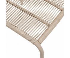 Chaise en fil plastique beige