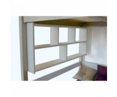 Étagère Murale - Couleur - Gris Aluminium, Dimensions - Largeur 120